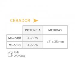 Cebador (4-22 W). Cuadro.